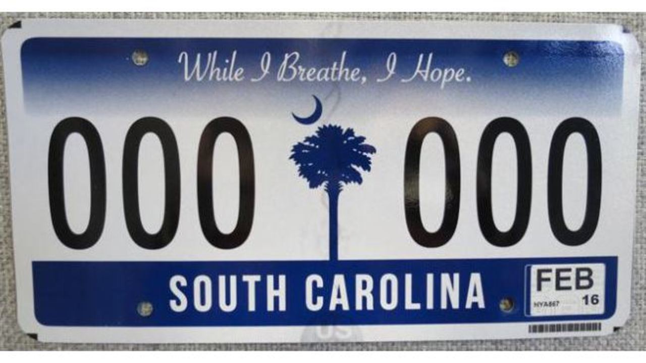 SC DMV issues new license tag and sticker