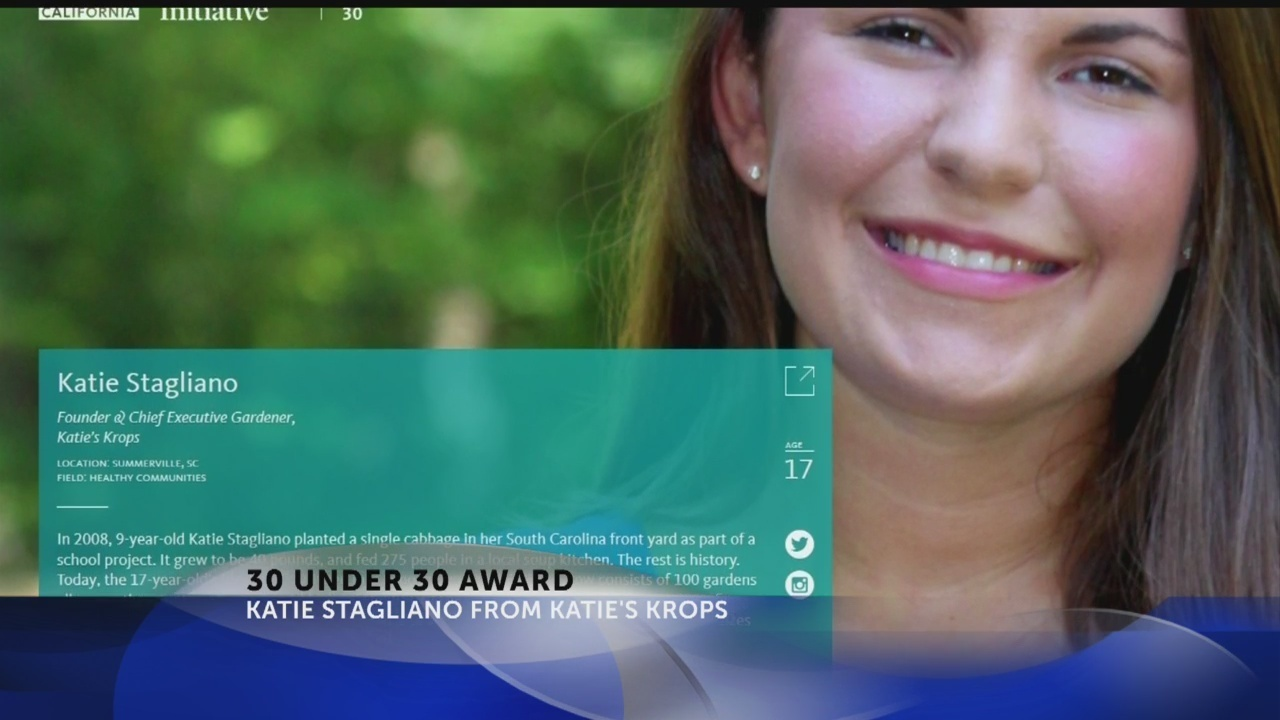 Summerville\'s Katie Stagliano honored with 30 Under 30 Award