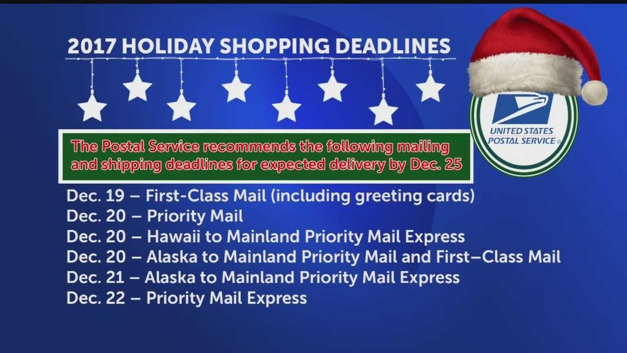 Us Postal Service Releases Christmas Holiday Shipping Deadlines