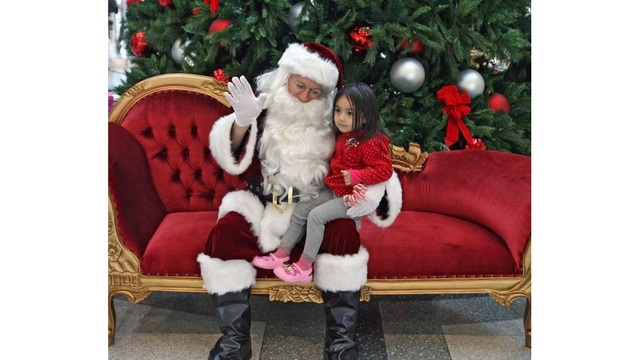 Santa Claus is coming to town on Tuesday