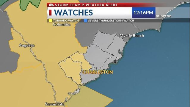Tornado watch issued for Lowcountry counties