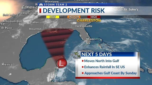 Good chance of tropical development over Memorial Day weekend