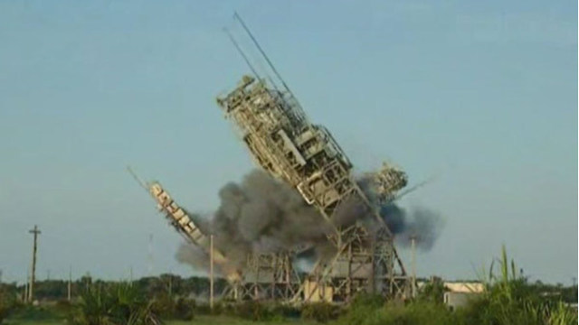 WATCH: Historic Cape Canaveral launch pad demolished