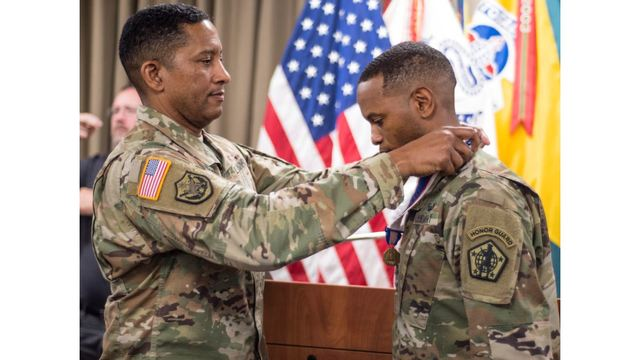 N. Charleston solider receives medal for saving truck driver in Kentucky