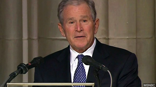 Bush remembered for enjoying a joke, even aimed at himself