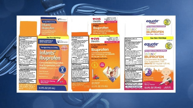 RECALL ALERT: Baby Ibuprofen could be potentially harmful