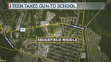 Teenager charged after loaded gun found at middle school in Berkeley Co.