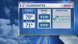 3 Degree Guarantee for Tuesday, March 12th