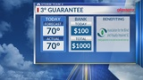 3 Degree Guarantee for Wednesday, March 13th